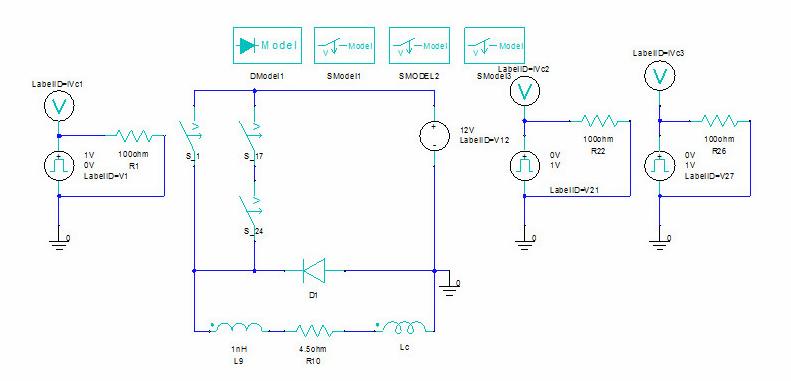 DC contactor EM simulation