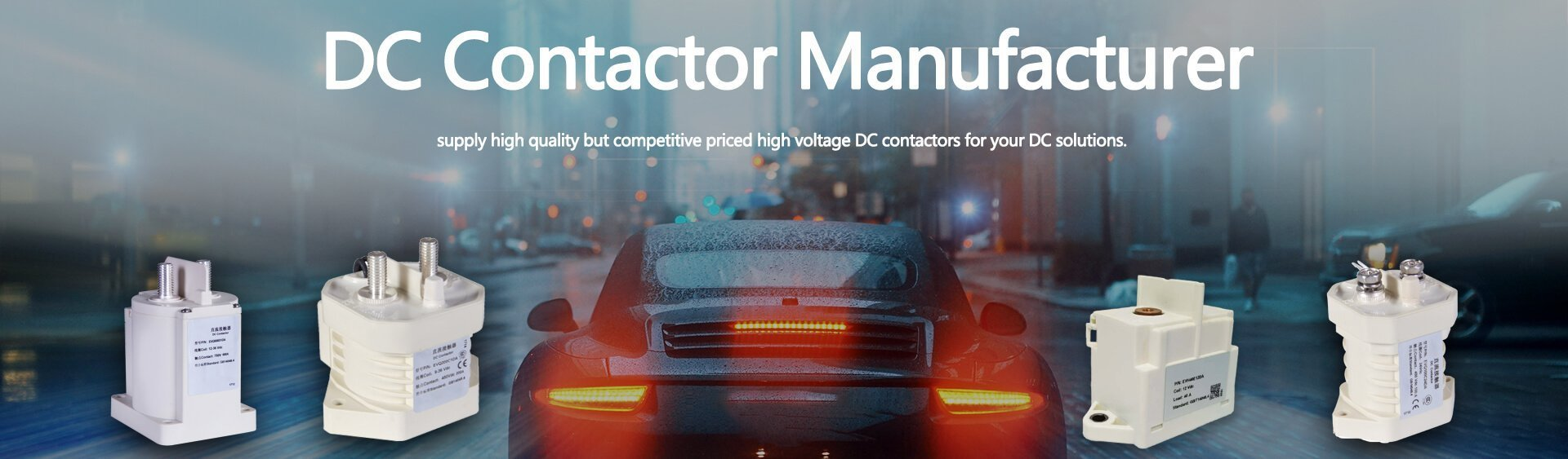 High voltage DC contactor manufacturer for Electric vehicle charging
