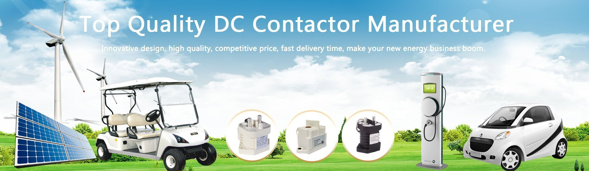 DC Contactor/relay manufacturer for electric vehicles and charging