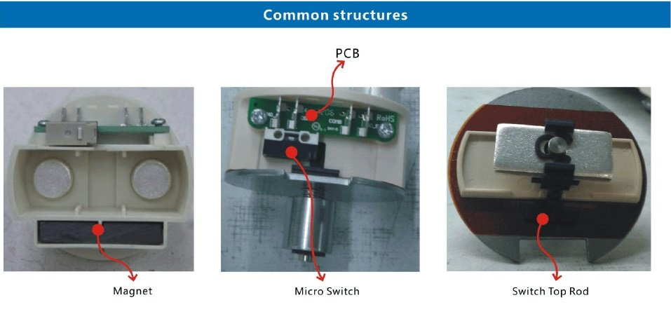 DC contactor common structures